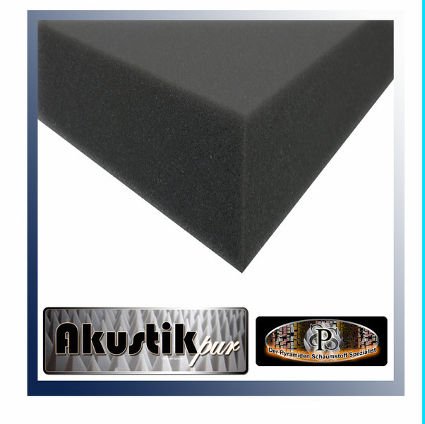 akustikpur rg25 44 schaumstoff glatt schwarz dibapur shop. Black Bedroom Furniture Sets. Home Design Ideas