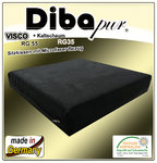 Visco cushion with black microfibre